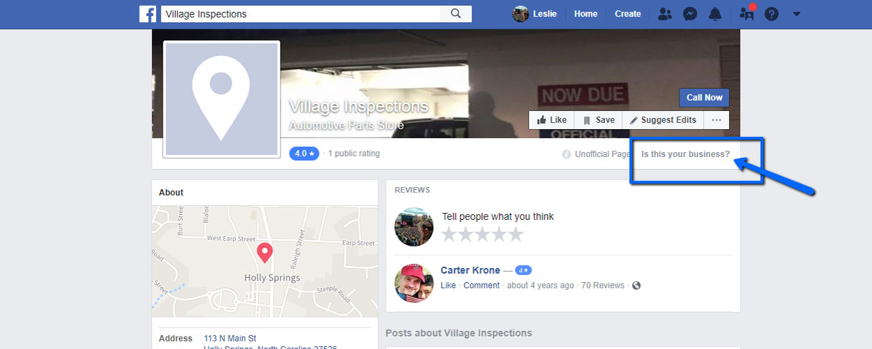 Request Ownership of Facebook Business Page