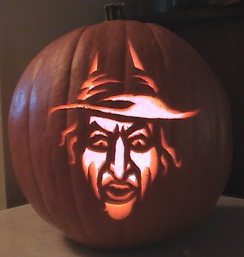 wicked witch of the west pumpkin carving