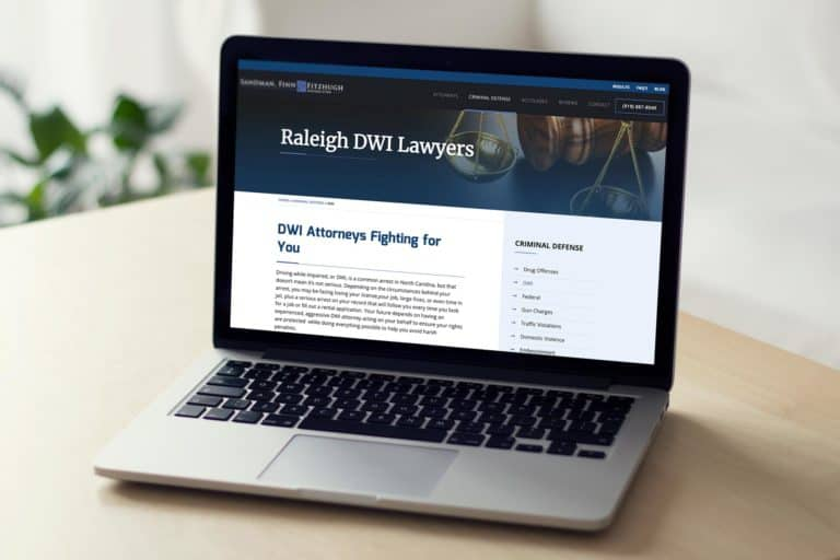 Custom WordPress Site for DWI Defense Attorney