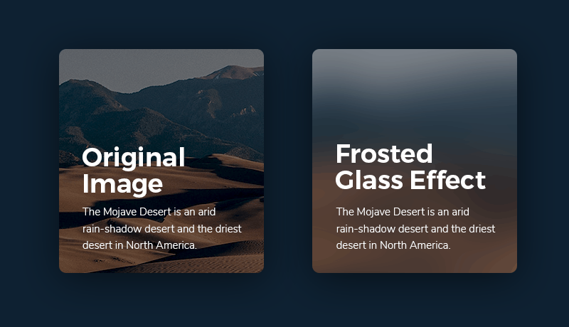 Web Design Trends Example: Frosted Glass Effects