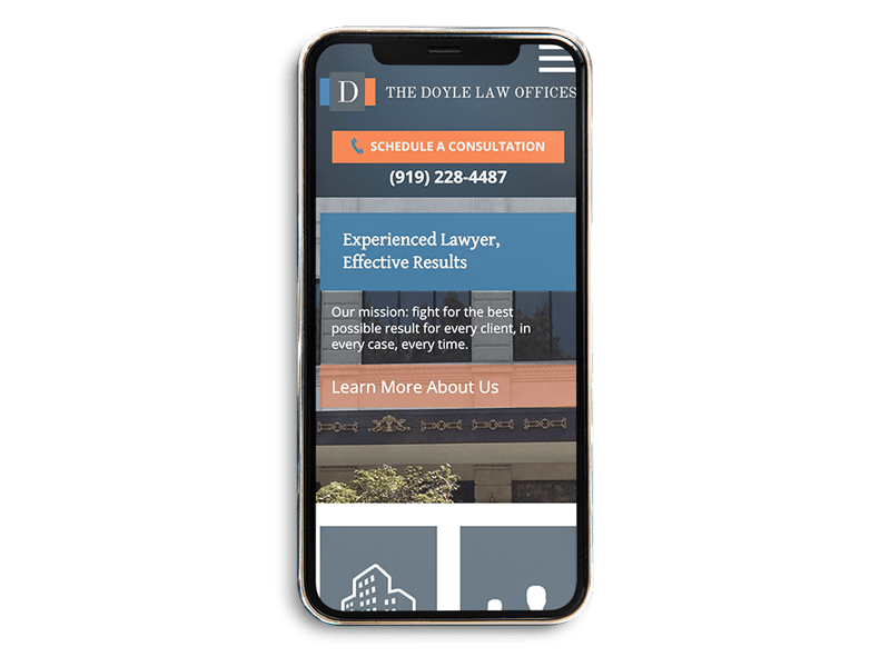 Mobile Friendly Web Design for Law Firm