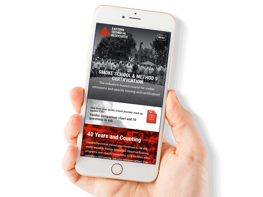 Mobile Friendly Web Design for an Environmental Training Company